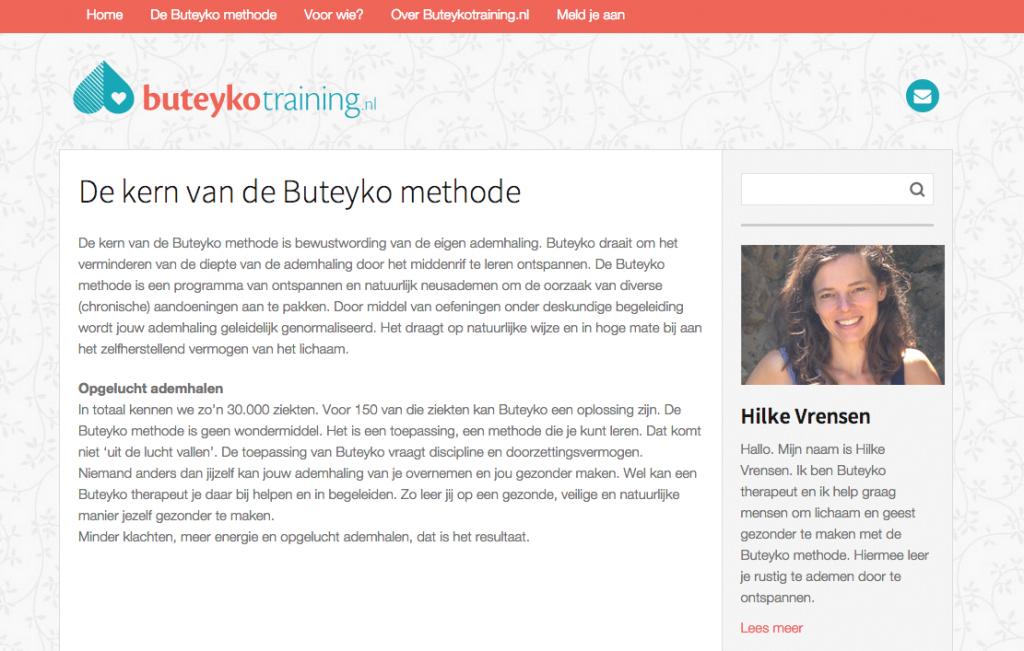 Webtekst Buteykotraining.nl door Coppig