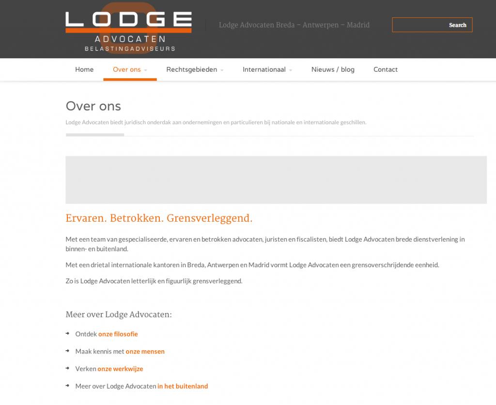 Lodge Advocaten - webteksten Coppig